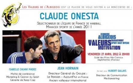 Claude Onesta en conférence à Albi avec les Valeurs de l'Albigeois